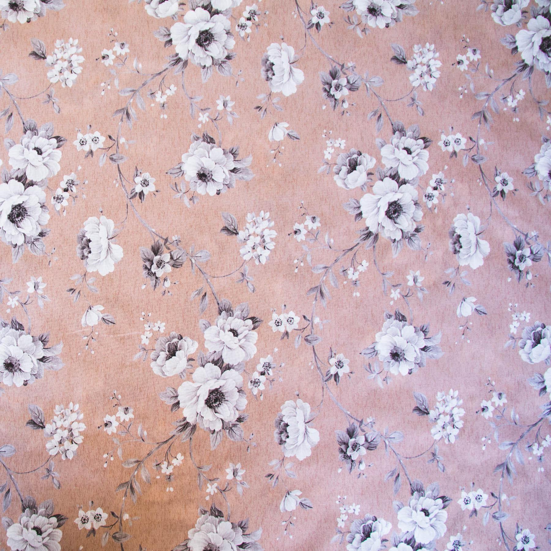 Tecido para decoração havana estampa digital Floral Rosa Seco - Dohler