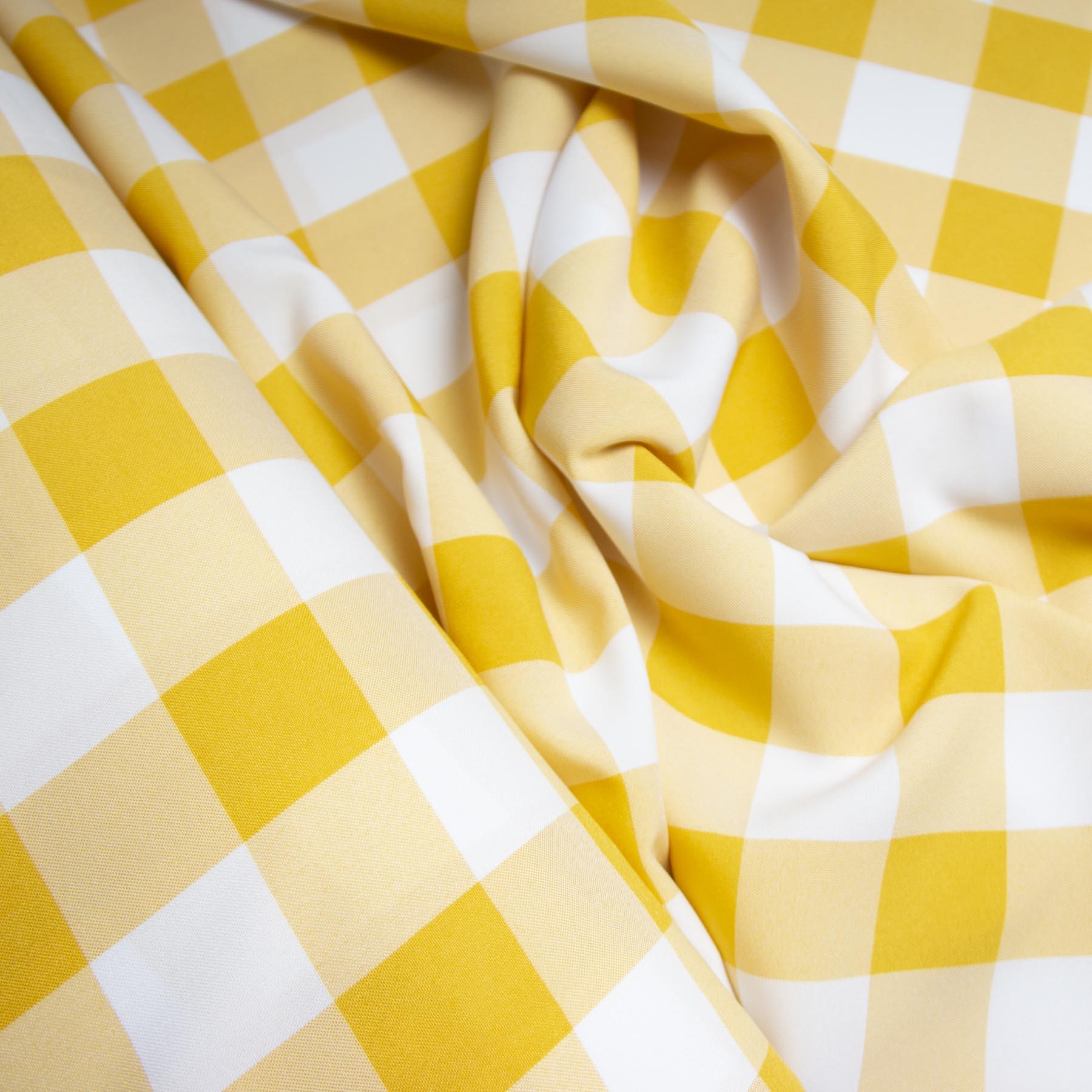 Tecido oxford estampado Xadrez Check Amarelo