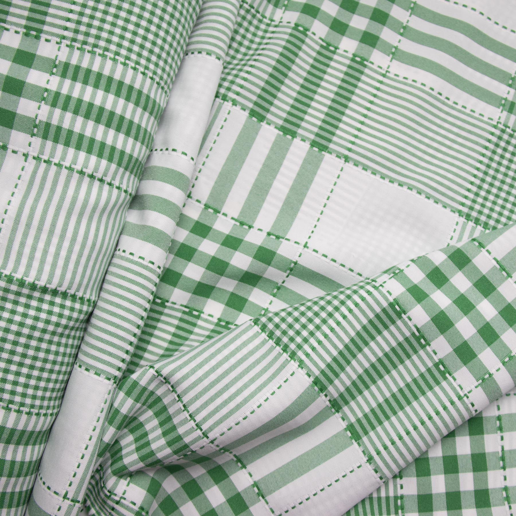 Tecido oxford estampado Xadrez Verde