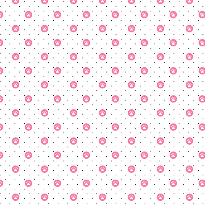 Tecido Tricoline estampado Patinhas Rosa