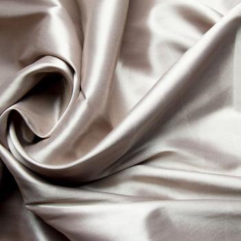 tecido cetim liso com elastano - Cinza acobreado