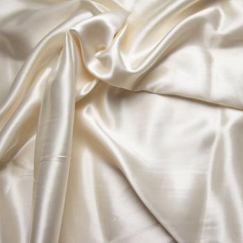 tecido cetim liso com elastano - perola