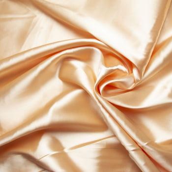 tecido cetim liso com elastano - Amarelo claro