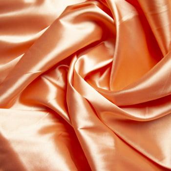 tecido cetim liso com elastano - Pessego