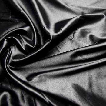 tecido cetim liso com elastano - preto