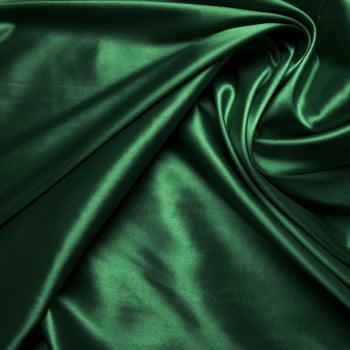 tecido cetim liso com elastano - Verde Bandeira