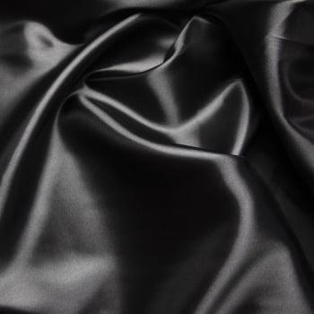 tecido cetim Preto