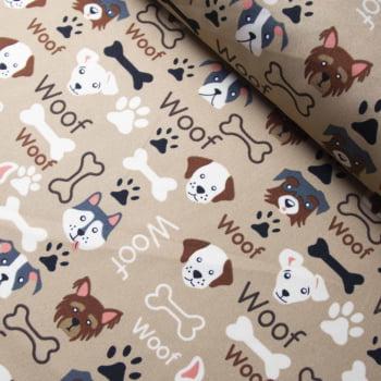Tecido oxford estampado cachorros