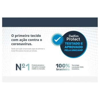 Tecido Antiviral Delfim Protect - Preto