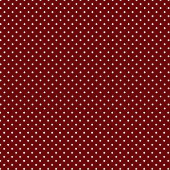 Tecido Tricoline estampado Mini Poá branco fundo vermelho