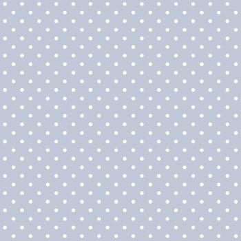 Tecido Tricoline estampado Poá branco fundo azul bebê
