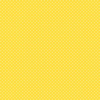 Tecido Tricoline estampado Mini Poá branco fundo amarelo
