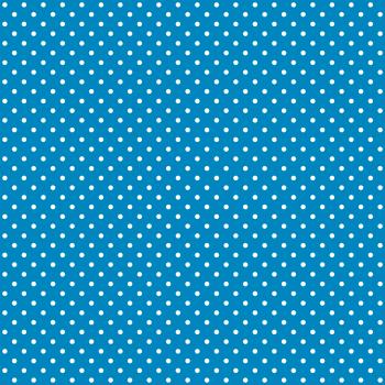 Tecido Tricoline estampado Poá branco fundo azul