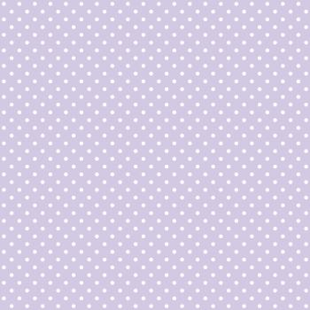 Tecido Tricoline estampado Poá branco fundo lilás