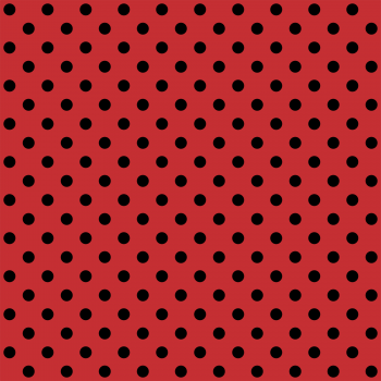 Tecido Tricoline estampado Poá grande preto fundo vermelho