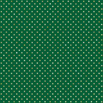 Tecido Tricoline estampado poá glitter verde