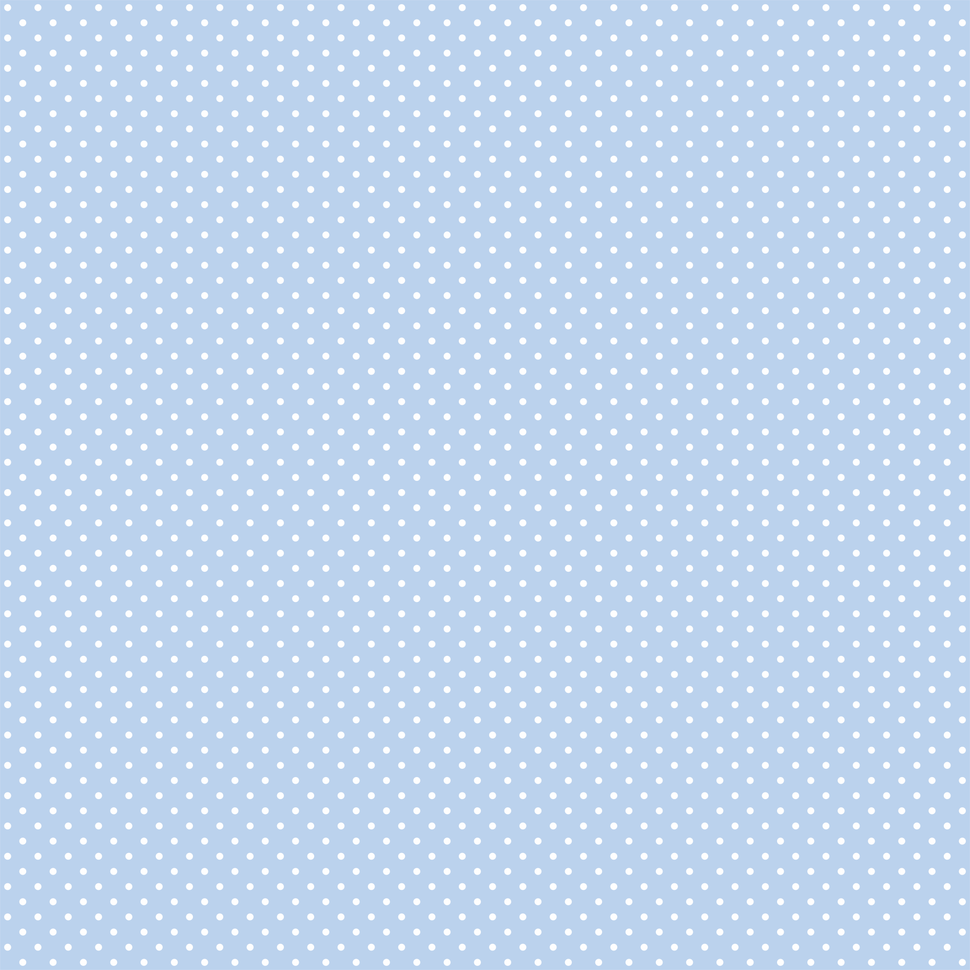 Tecido Tricoline estampado Mini Poá branco fundo azul claro