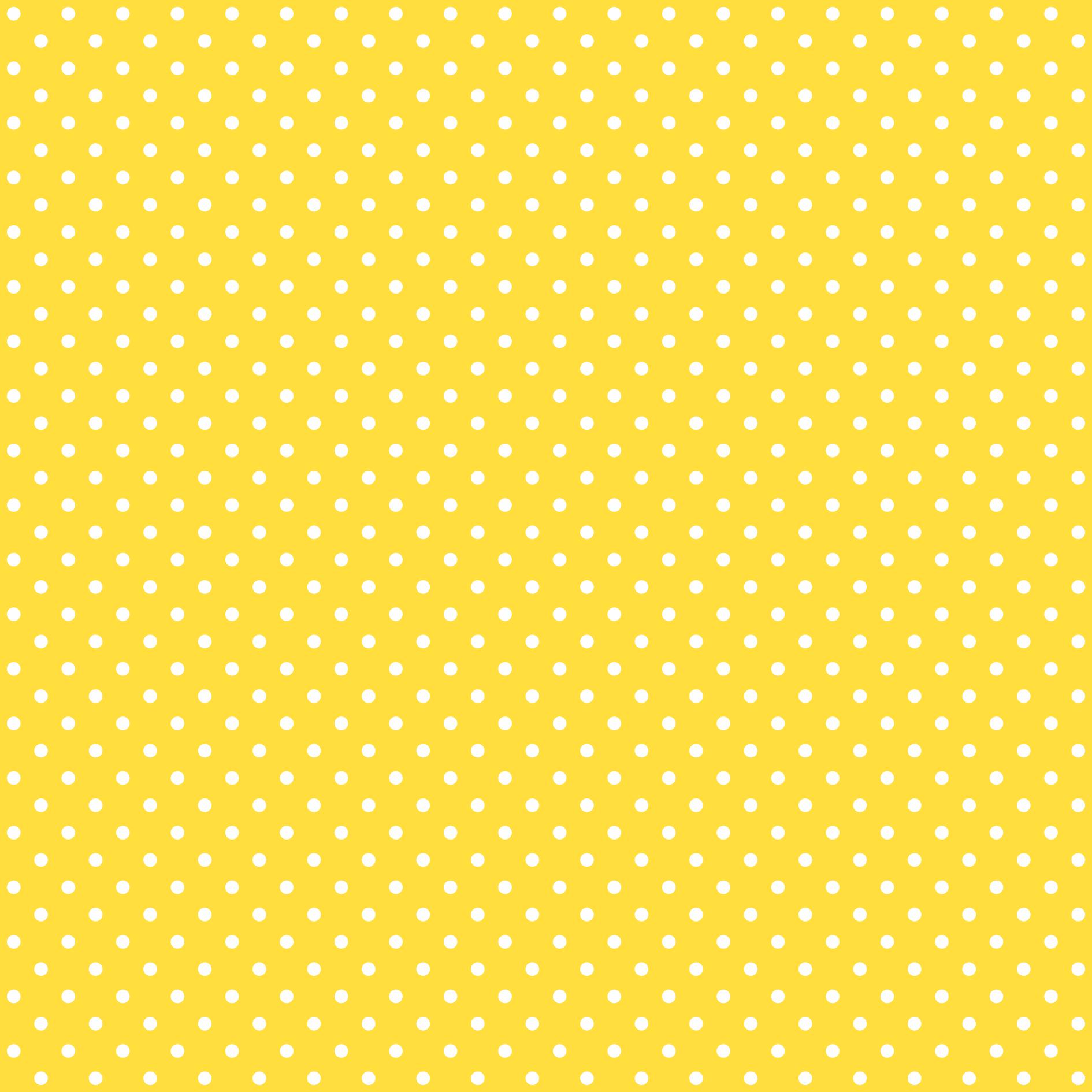 Tecido Tricoline estampado Poá branco fundo amarelo