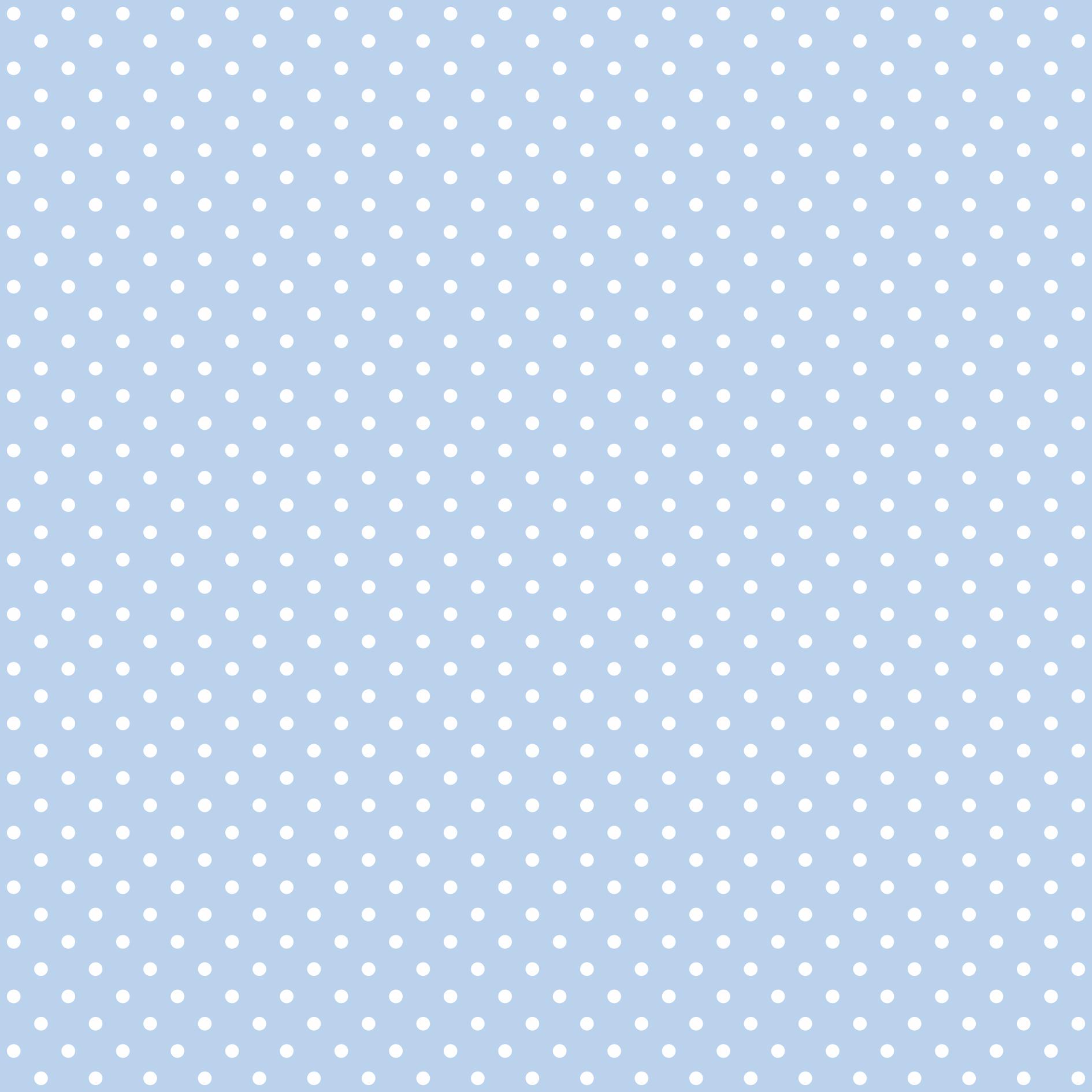 Tecido Tricoline estampado Poá branco fundo azul claro