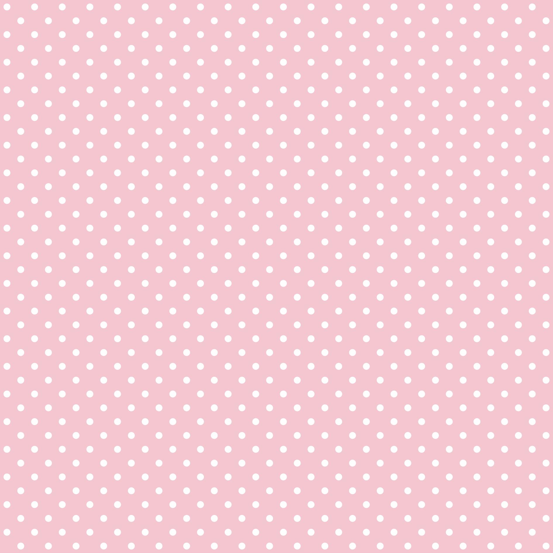 Tecido Tricoline estampado Poá branco fundo rosa